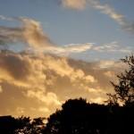 Abendgelb mit Wolken über Billerbeck