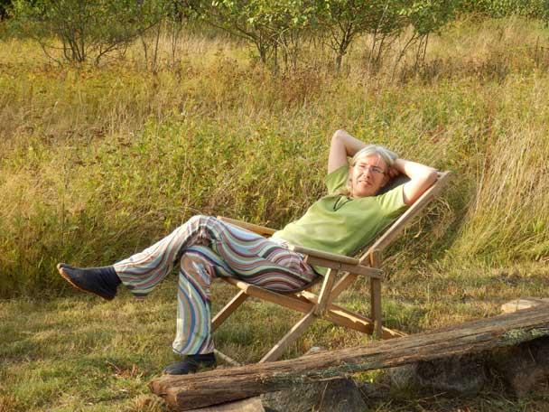 Entspannung im Liegestuhl