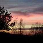 Himmelslandschaft mit Farbenspiel über Billerbeck