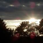 Lichtreflexe am Abendhimmel ueber Billerbeck