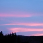 Rosablau am Abendhimmel über Billerbeck