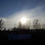 Wolkenstrahlen vor der Abendsonne