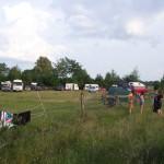 Festivalatmosphäre auf dem Parkplatz
